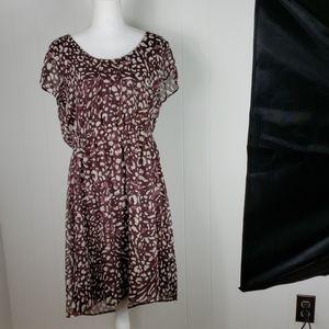 ❄ Merona : Mauve Leopard Print Dress